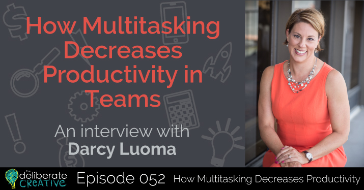 The Deliberate Creative Podcast Episode 52: How Multitasking Decreases Productivity in Teams